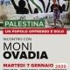"""Incontro con MONI OVADIA """"PALESTINA: UN POPOLO OPPRESSO E SOLO"""" Martedì 7 gennaio 2020 ore 17 Mediateca Regionale Ligure"""