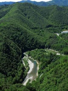 Val di Vara, veduta del fiume da Cornice, Sesta Godano (2014) (foto Giorgio Pagano)