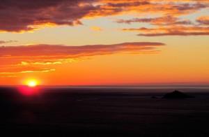 Il Tino e il Tinetto al tramonto da Montemarcello     (2013)    (foto Giorgio Pagano)