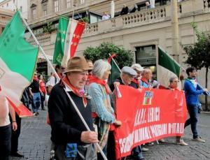 """Roma, Luigi Fiori alla manifestazione """"La via maestra"""", 12 ottobre 2013   (2013)   (foto Giorgio Pagano)"""