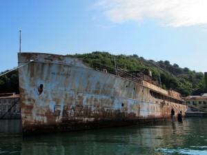 Lerici, cantiere di Pertusola, la nave Williamsburg  (2011)  (foto Giorgio Pagano)