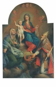 Fezzano, Chiesa di San Giovanni Battista: Giuseppe Tori, Madonna del Carmine e i Santi Anna ed Erasmo    (2012)   (foto Luca Fregoso)