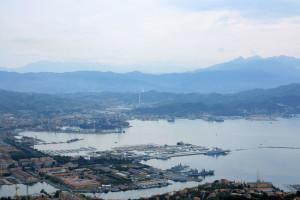 La Spezia, veduta dal monte Santa Croce    (2016)    (foto Giorgio Pagano)