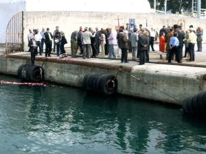La Spezia, manifestazione al molo di Pagliari, 8 maggio 2006    (foto Giorgio Pagano)