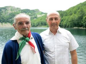 Pietro Gnecchi e Giorgio Pagano al Lago Santo    (2014)    (foto Giorgio Pagano)