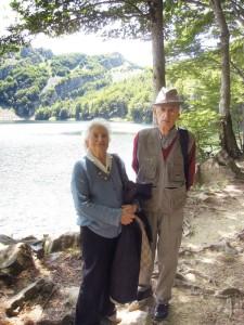 Pietro e Virginia Zuccarelli al Lago Santo    (2008)    (foto archivio famiglia Zuccarelli)