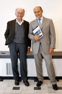 Piero Ottone e Giorgio Pagano    (2010)    (foto Enrico Amici)