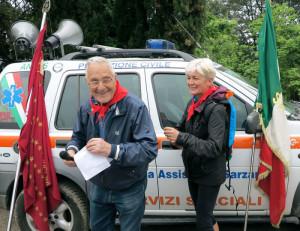 """Sarzana, Prulla, intervento di Piero Guelfi """"Danilo"""", """"Percorsi della Resistenza"""" 23 aprile 2017    (foto Giorgio Pagano)"""