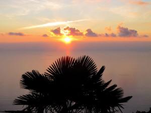 La Spezia, tramonto da Campiglia    (2011)    (foto Giorgio Pagano)