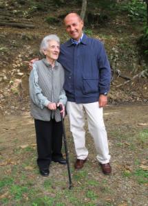 Laura Seghettini con Giorgio Pagano, Adelano di Zeri, 22 luglio 2011, anniversario della morte di Facio