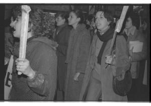 La Spezia, manifestazione femminista    (1977)    (foto Giorgio Pagano)