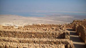 Israele, veduta del Mar Morto dalla Fortezza Masada    (2009)    (foto Giorgio Pagano)