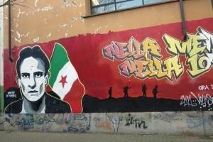 Torino, centro sociale Askatasuna, murale dedicato a Dante Di Nanni    (2016)    (foto Giorgio Pagano)