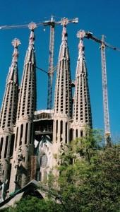 Barcellona, la Sagrada Familia di Antoni Gaudì    (2004)    (foto Giorgio Pagano)