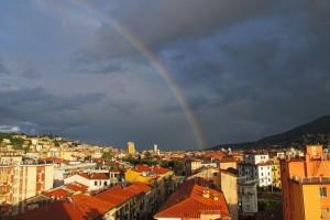 La Spezia, arcobaleno da Fossitermi (2013) (foto Giorgio Pagano)