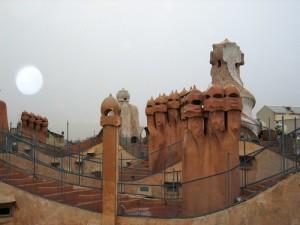 Barcellona, il Parc Guell di Antoni Gaudì    (2004)    (foto Giorgio Pagano)