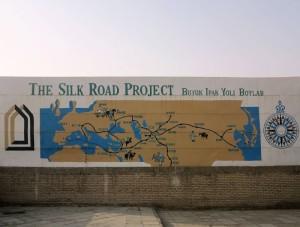 Khiva, murale sulla Via della Seta  (2017)  (foto Giorgio Pagano)