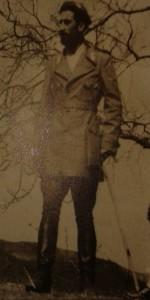 Ermanno Gindoli, Comandante del Battaglione Zignago, sul monte Fiorito  (foto archivio Istituto Storico della Resistenza)