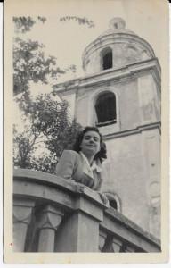 Mimma Rolla ad Arcola nel dopoguerra  (foto archivio famiglia Rolla)