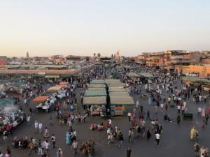 Marrakech, piazza Jamaa el Fna  (2018)  (foto Giorgio Pagano)