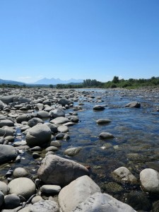 Filattiera, il fiume Magra (2014) (foto Giorgio Pagano)