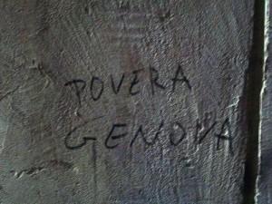Genova, scritta murale nel centro storico  (2010)  (foto Giorgio Pagano)