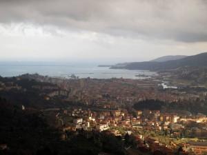 La Spezia, veduta della città da Marinasco (2012) (foto Giorgio Pagano)