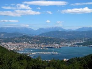 La Spezia, veduta della città da Campiglia (2012) (foto Giorgio Pagano)