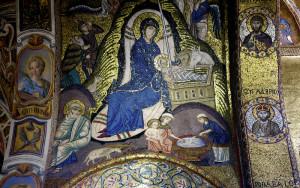 Palermo, Palazzo dei Normanni, mosaico della Cappella Palatina  (2018)  (foto Giorgio Pagano)