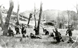 """La Brigata """"Cichero"""" in azione  (foto Archivio Ilsrec """"Raimondo Ricci"""")"""