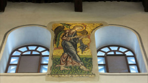 Palestina, Betlemme, i mosaici restaurati della Basilica della Natività (2018) (foto Giorgio Pagano)