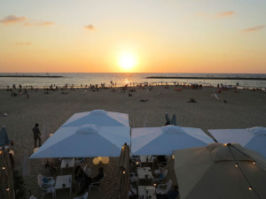 Israele, Tel Aviv: la spiaggia al tramonto  (2018)  (foto Giorgio Pagano)