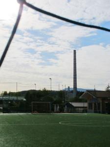 Veduta della centrale Enel dalle Pianazze (2012) (foto Giorgio Pagano)