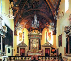 Interno del Santuario di Nostra Signora delle Grazie (2012) (foto Luca Fregoso).