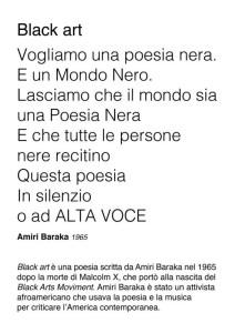 Black art, poesia di Amiri Baraka (2018) (foto Giorgio Pagano)