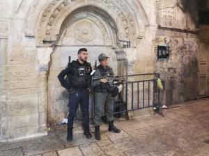 Soldati israeliani a Gerusalemme est, la città araba (2018) (foto Giorgio Pagano)