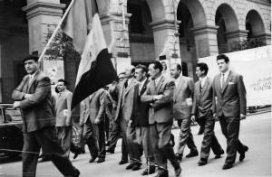 Manifestazione del Primo Maggio - metà degli anni Sessanta (foto archivio Dino Giacchè)