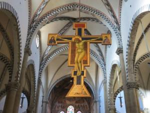 Firenze, Basilica di Santa Maria Novella, il Crocifisso di Giotto (2017) (foto Giorgio Pagano)