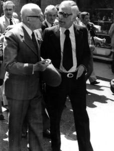 Angelo Landi e Sandro Pertini, Presidente della Camera - primi anni Settanta (foto archivio famiglia Landi)