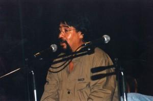 La Spezia, Teatro Civico, Luis Lucho Sepulveda (3 settembre 2002) (foto Ercole Buoso)