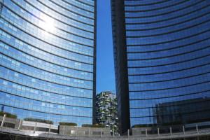 Milano, i grattacieli di piazza Gae Aulenti - Utopia architettonica della globalizzazione (2017) (foto Giorgio Pagano)